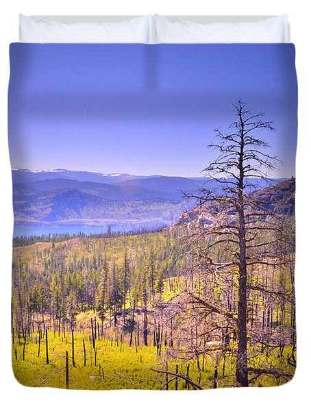 A View From Okanagan Mountain Duvet Cover by Tara Turner