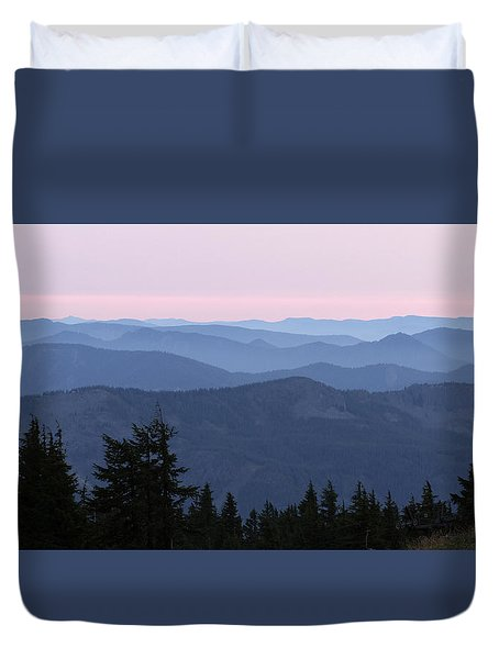A View From Timberline Duvet Cover