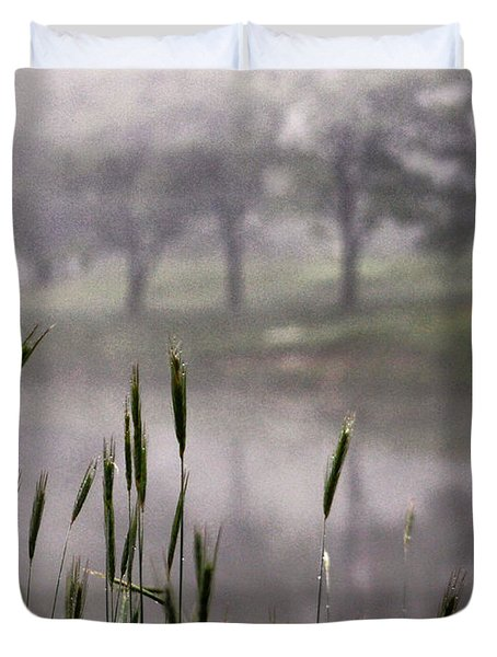 Duvet Cover featuring the photograph A View In The Mist by Bruce Patrick Smith