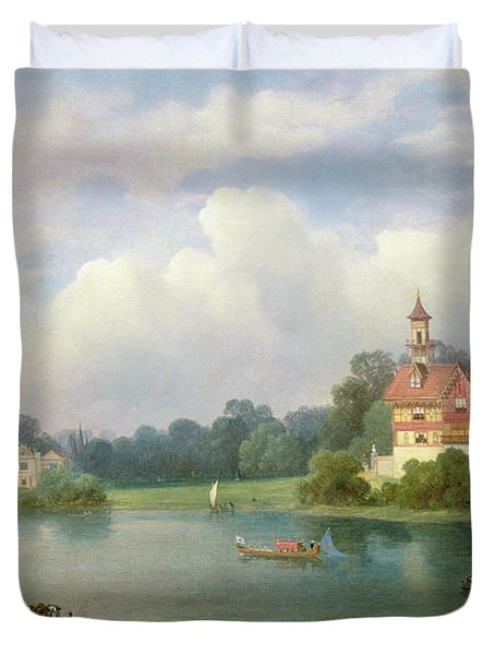 A View Of Popes House And Radnor House At Twickenham Duvet Cover