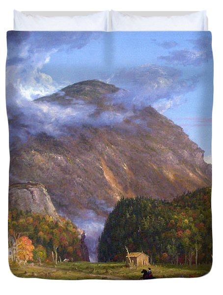 A View Of The Mountain Pass Called The Notch Of The White Mountans By Thomas Cole Duvet Cover