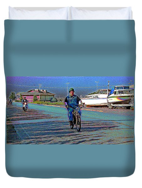 A Vintage Whizz Leading Duvet Cover