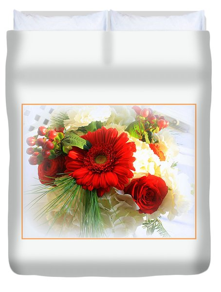 A Vision In Red Duvet Cover by Dora Sofia Caputo Photographic Art and Design