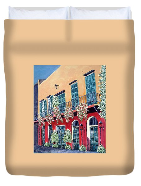 A Visit To New Orleans Duvet Cover by Suzanne Theis