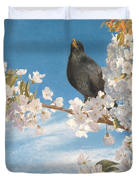 A Voice Of Joy And Gladness Duvet Cover by John Samuel Raven