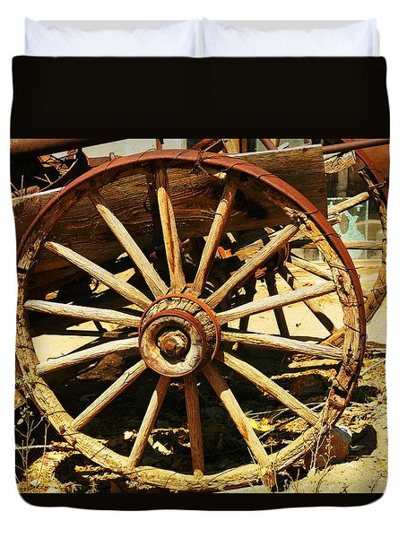 A Wagon Wheel Duvet Cover by Jeff Swan
