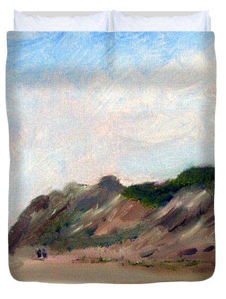 A Walk Down Cahoon Hollow Beach Duvet Cover