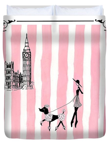 A Walk In London Duvet Cover