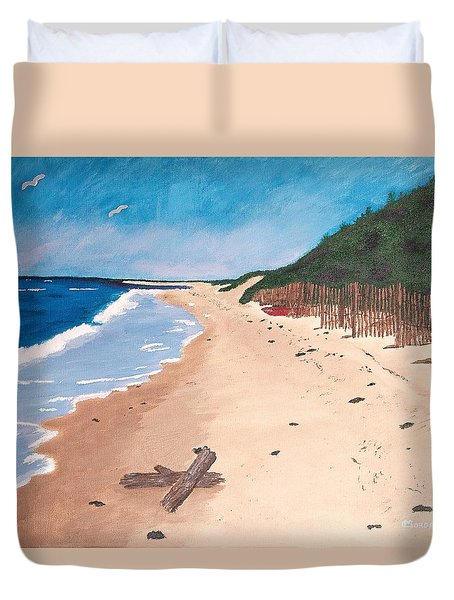 A Walk In Nantucket Duvet Cover