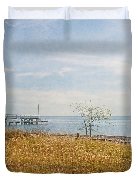 A Walk In Nature Duvet Cover by Kim Hojnacki