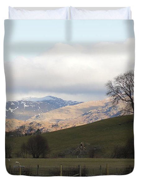 Duvet Cover featuring the photograph A Walk In The Countryside In Lake District England by Tiffany Erdman
