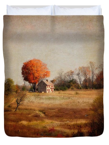 A Walk In The Meadow With Texture Duvet Cover