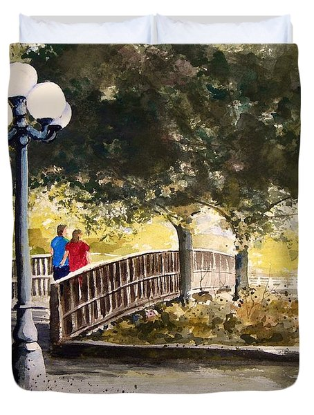 A Walk In The Park Duvet Cover