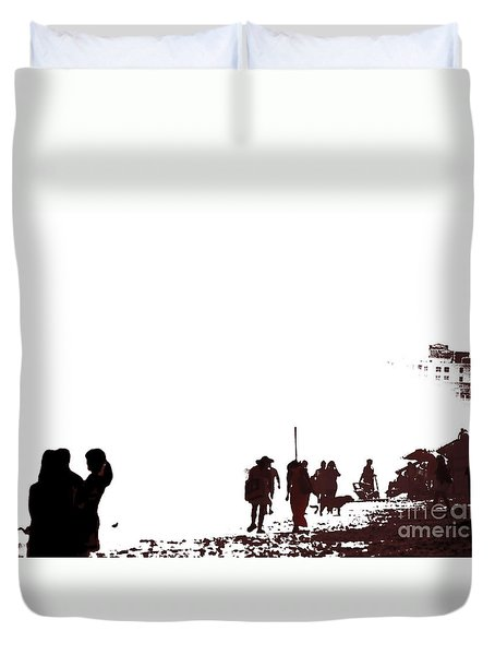 A Walk On The Beach Duvet Cover