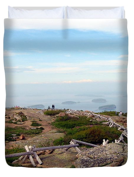 Duvet Cover featuring the photograph A Walk On The Mountain by Judith Morris