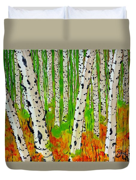 A Walk Though The Trees Duvet Cover