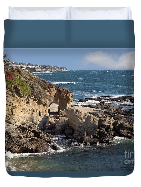 A Walk Through The Rocks Duvet Cover