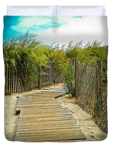 A Walk To The Beach Duvet Cover