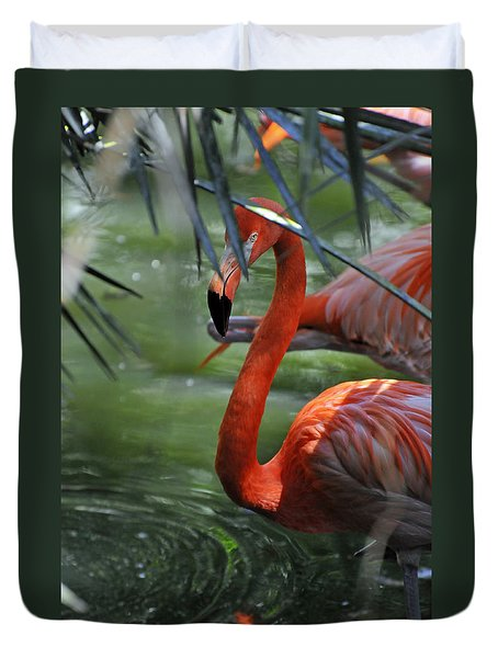 Duvet Cover featuring the photograph A Watchful Eye by Kenny Francis
