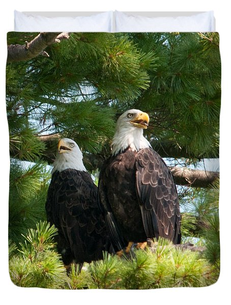 A Watchful Pair Duvet Cover by Brenda Jacobs