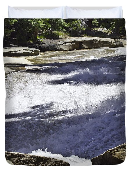 Duvet Cover featuring the photograph A Water Slide by Brian Williamson