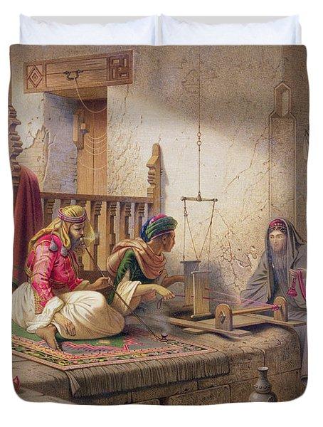 A Weaver In Esna, One Of 24 Duvet Cover