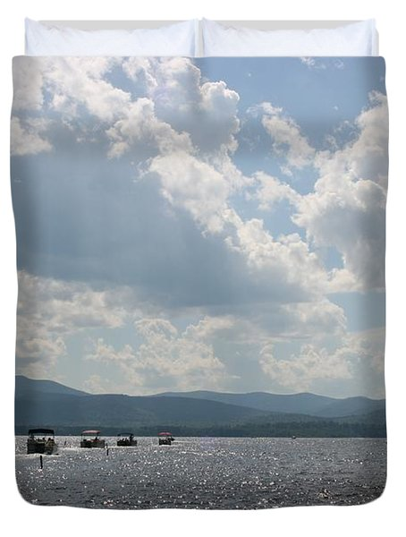 A Weekend On The Water Duvet Cover by Barbara Bardzik