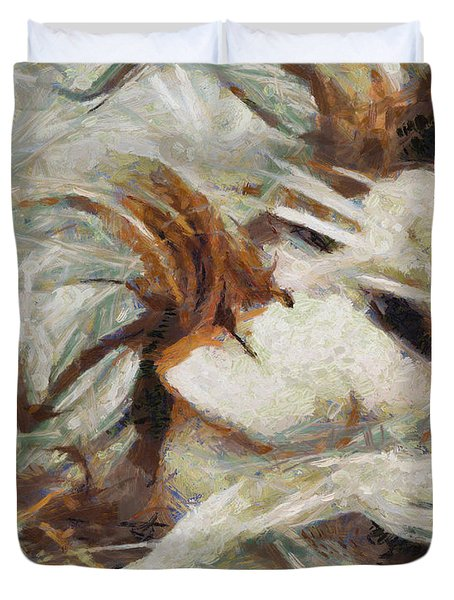 Duvet Cover featuring the painting A Wild Dance by Joe Misrasi