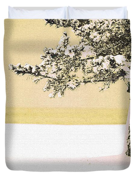 A Winter Moment Duvet Cover by Karol Livote
