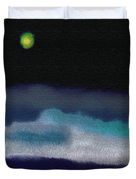 A Winter Night Duvet Cover by Lenore Senior