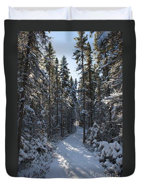 A Winter Poem.. Duvet Cover by Nina Stavlund