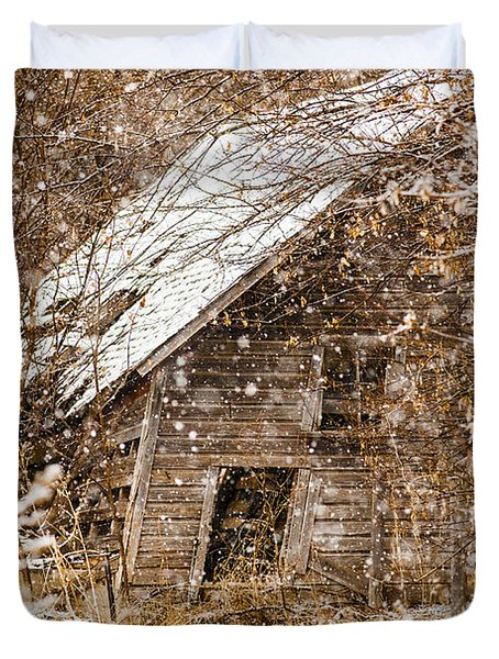 A Winter Shed Duvet Cover