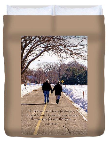 A Winter Walk/inspirational Duvet Cover