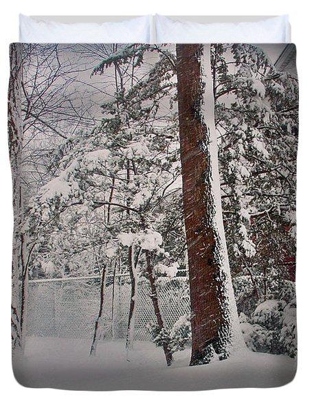 A Winter Wonderland Duvet Cover by Mikki Cucuzzo