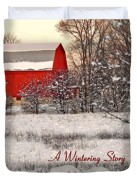 A Wintering Story Duvet Cover by Mark Minier