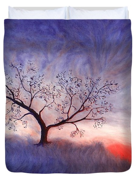 A Wintering Tree Duvet Cover