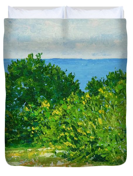 A Winter's Day At The Beach Duvet Cover