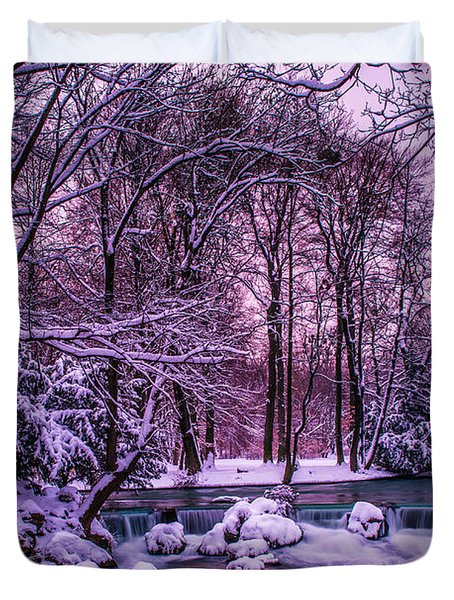a winter's tale I - hdr Duvet Cover by Hannes Cmarits