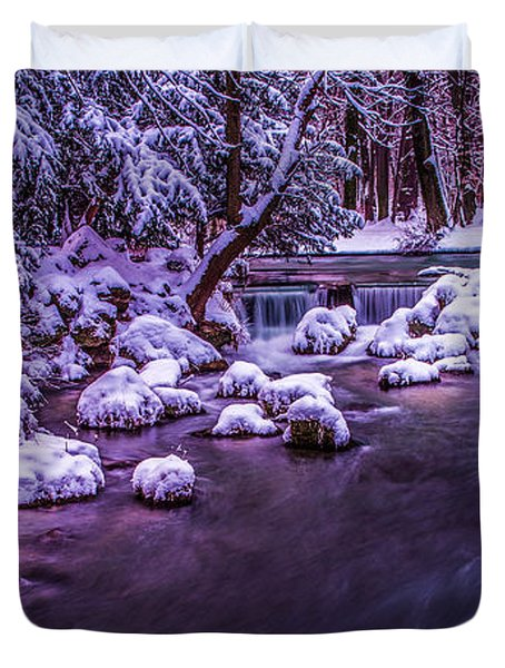 a winter's tale II - hdr Duvet Cover by Hannes Cmarits