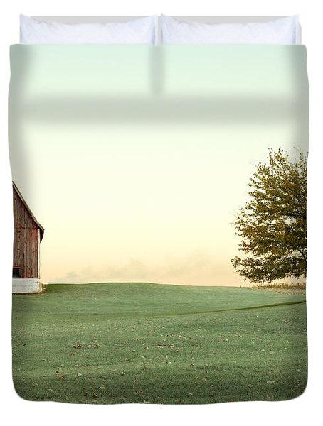 A Wisconsin Postcard Duvet Cover by Todd Klassy