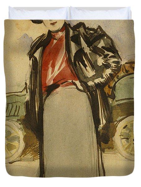 A Woman Driver Duvet Cover