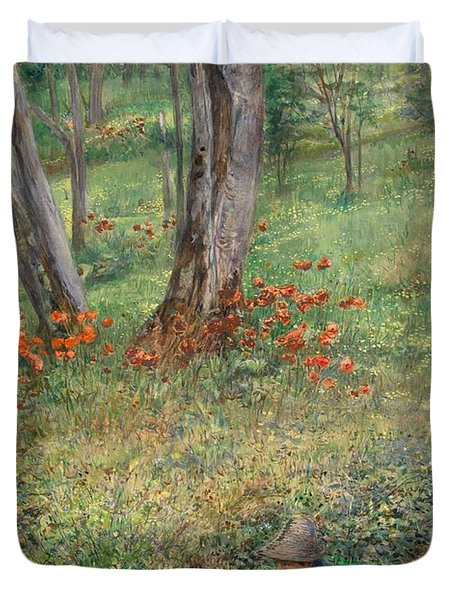 A Woodland Hideout  Duvet Cover by Giovanni Costa