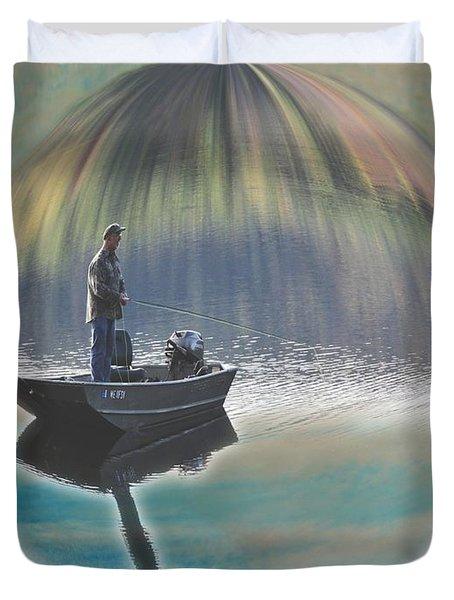 A World Of Good Fishing Duvet Cover