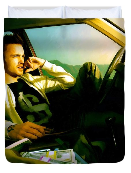 Aaron Paul Duvet Cover