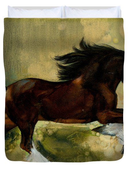 Clydesdale Stallion Duvet Cover