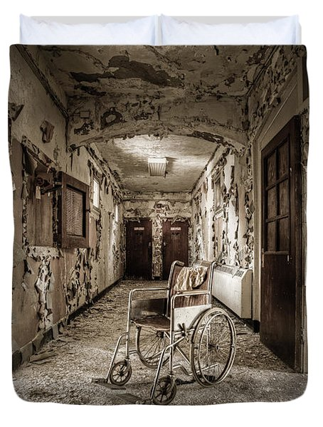 Abandoned Asylums - What Has Become Duvet Cover by Gary Heller