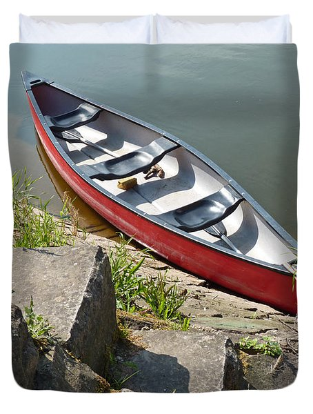 Abandoned Boat At The Quay Duvet Cover
