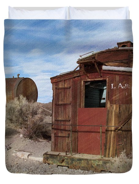 Abandoned Caboose Duvet Cover