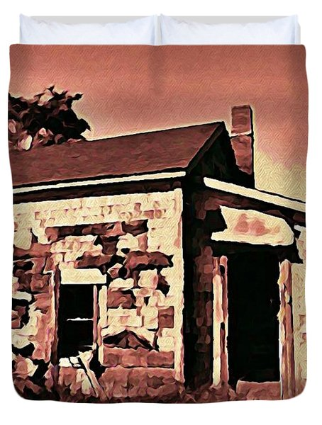 Abandoned Cape Breton House Duvet Cover by John Malone
