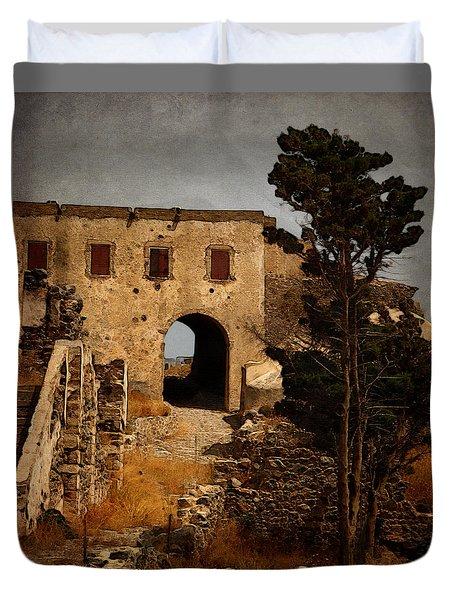 Abandoned Castle Duvet Cover by Christo Christov